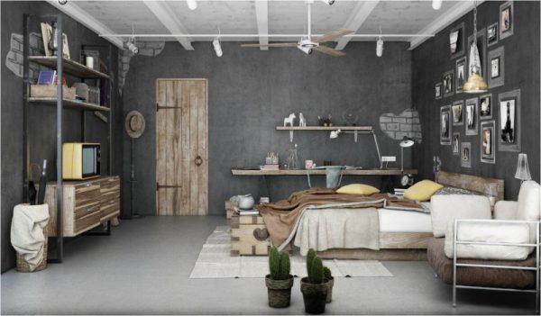 Thiết kế nội thất phong cách Industrial interior