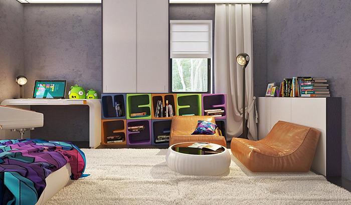 mẫu thiết kế biệt thự cấp 4 diện tích 93,6m2 - nội thất 6