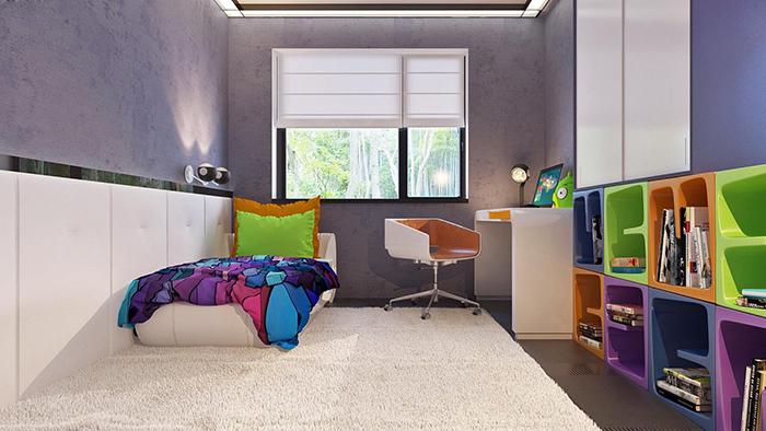 mẫu thiết kế biệt thự cấp 4 diện tích 93,6m2 - nội thất 7