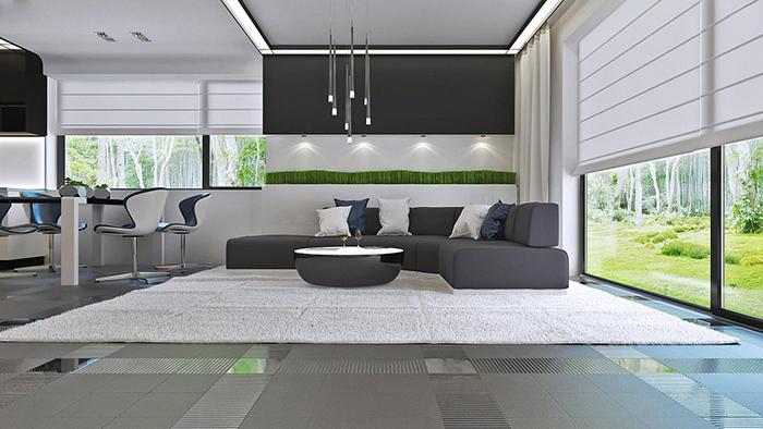 mẫu thiết kế biệt thự cấp 4 diện tích 93,6m2 - nội thất 1