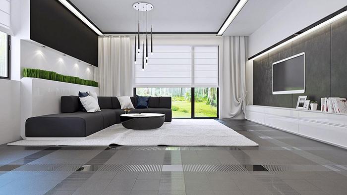 mẫu thiết kế biệt thự cấp 4 diện tích 93,6m2 - nội thất 2