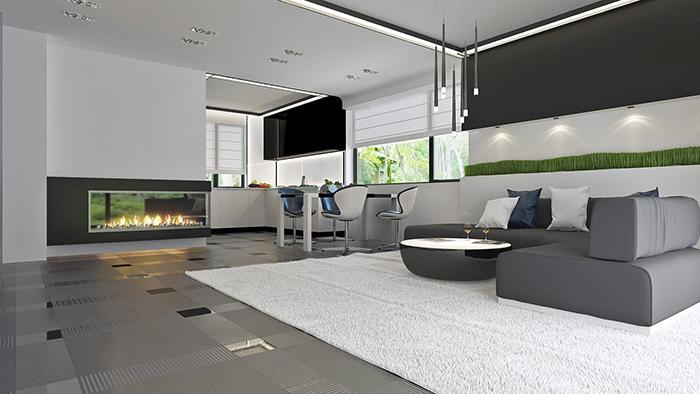 mẫu thiết kế biệt thự cấp 4 diện tích 93,6m2 - nội thất 3