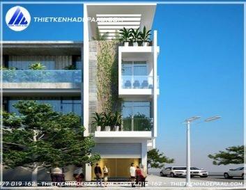 thiết kế nhà phố 3 tầng 1 tum giá rẻ