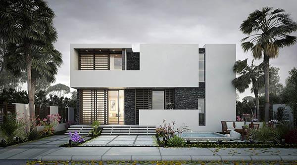 Mẫu thiết kế biệt thự 2 tâng hiện đại được ưa chuộng nhất 2016- 2