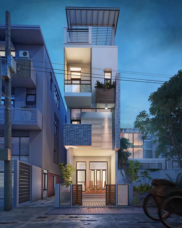 Những mẫu thiết kế nhà phố hiện đại tuyệt đẹp 2017- 1