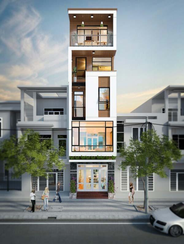 Những mẫu thiết kế nhà phố hiện đại tuyệt đẹp 2017- 3