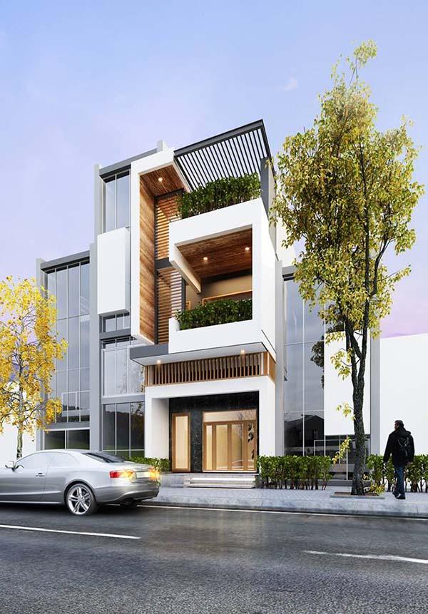 Những mẫu thiết kế nhà phố hiện đại tuyệt đẹp 2017- 5