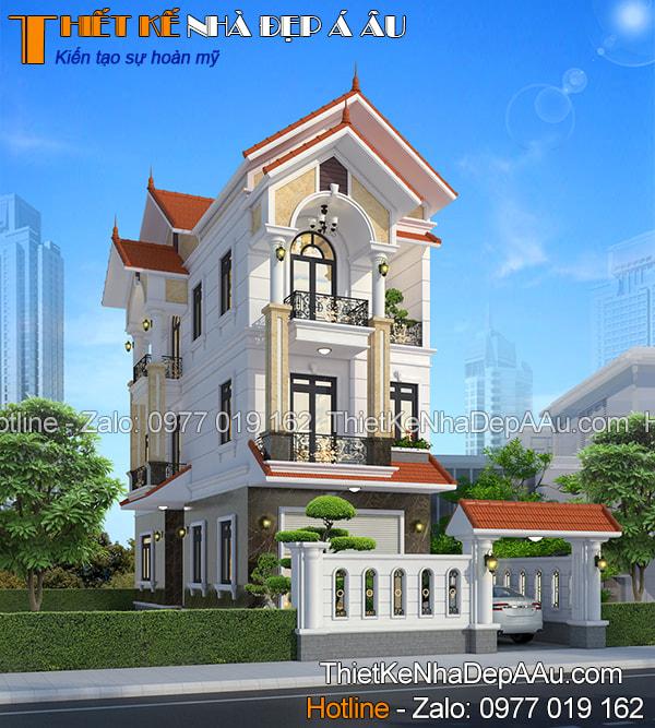 Mẫu nhà phố mái thái hiện đại