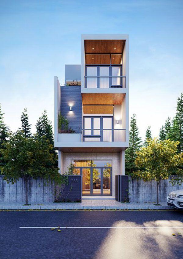 Tư vấn thiết kế nhà phố 1 trệt 2 lầu đẹp giá rẻ