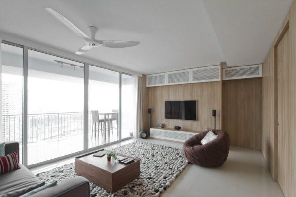 Thiết kế nội thất chung cư 40m2 khoa học sử dụng nội thất hiện đại phù hợp.