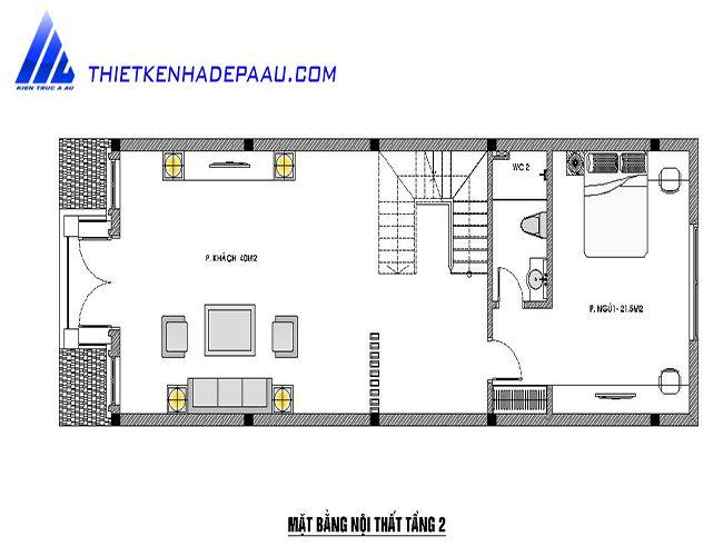 Ban ve mat bang tang 2 nhà phố 3 tầng