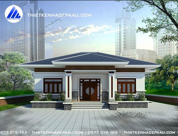 Mẫu thiết kế nhà cấp 4 mái thái 140m2 tại Ninh Bình-pc1
