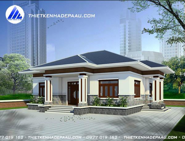 Mẫu thiết kế nhà cấp 4 mái thái 140m2 tại Ninh Bình-pc2