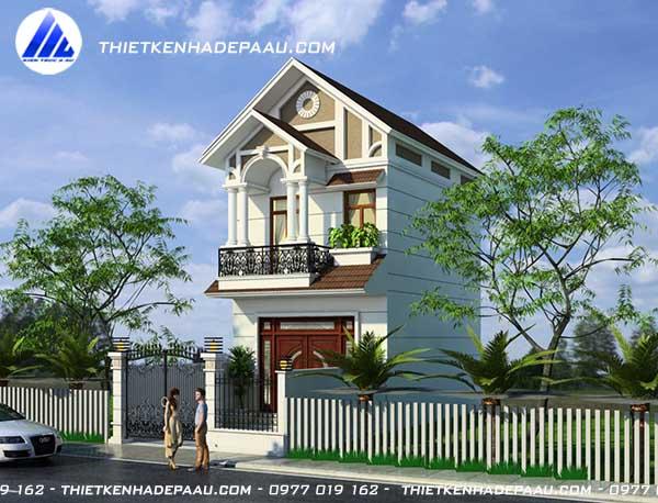 Mẫu nhà phố mái thái 2 tầng 1 tum 60m2 tại Nam Định- 2