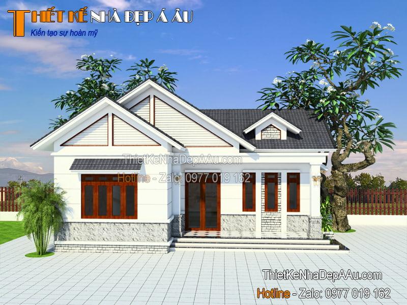 thiết kế nhà cấp 4 3 phòng ngủ 100m2