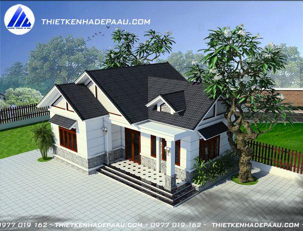 Thiết kế nhà cấp 4 3 phòng ngủ 100m2 tại Hà Tĩnh