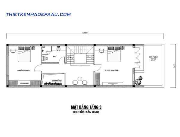 Thiết kế nhà phố hiện đại 4 tầng 110m2 tại Hà Nội-mb3