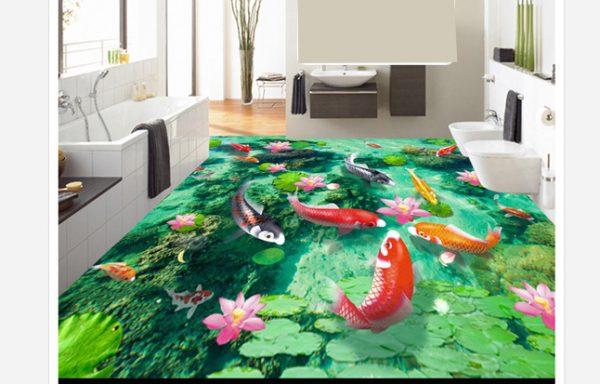 Tranh 3d sử dụng gạch lát sàn