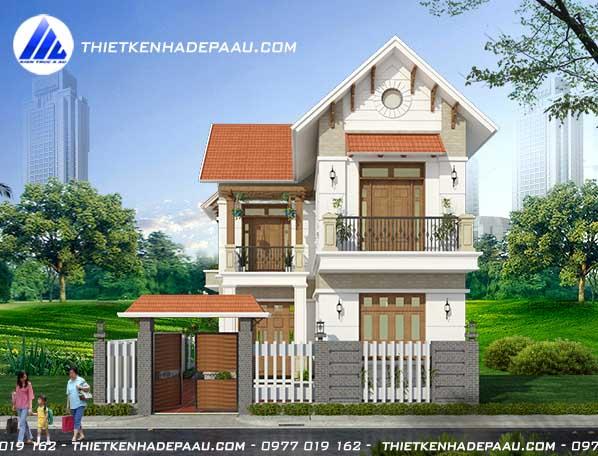 Mẫu biệt thự chữ L mái thái 2 tầng 70m2 tại Nam Định-pc2
