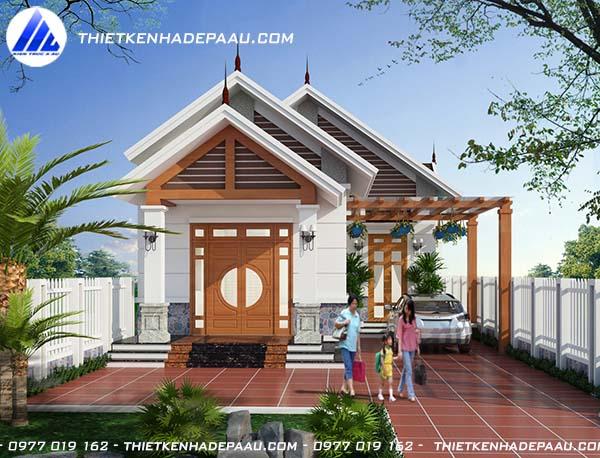 Mẫu nhà cấp 4 150m2 3 phòng ngủ 1 phòng thờ tại Nam Định- pc1