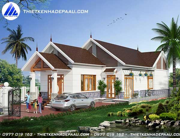 Mẫu nhà cấp 4 150m2 3 phòng ngủ 1 phòng thờ tại Nam Định- pc3