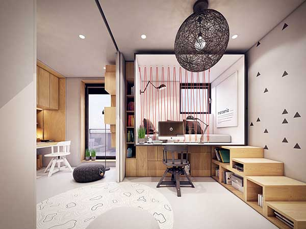 Thiết kế nội thất căn hộ chung cư 90m2 với những màu sắc rực rỡ- 10