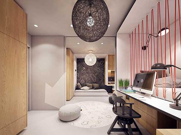 Thiết kế nội thất căn hộ chung cư 90m2 với những màu sắc rực rỡ- 11