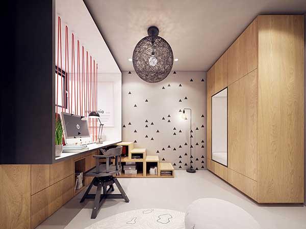 Thiết kế nội thất căn hộ chung cư 90m2 với những màu sắc rực rỡ- 12