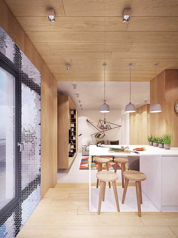 Thiết kế nội thất căn hộ chung cư 90m2 với những màu sắc rực rỡ- 6