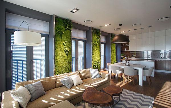 Thiết kế nội thất căn hộ chung cư xanh 110m2- 1