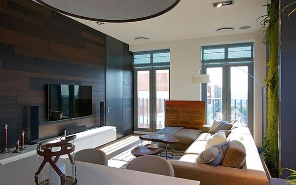 Thiết kế nội thất căn hộ chung cư xanh 110m2- 2