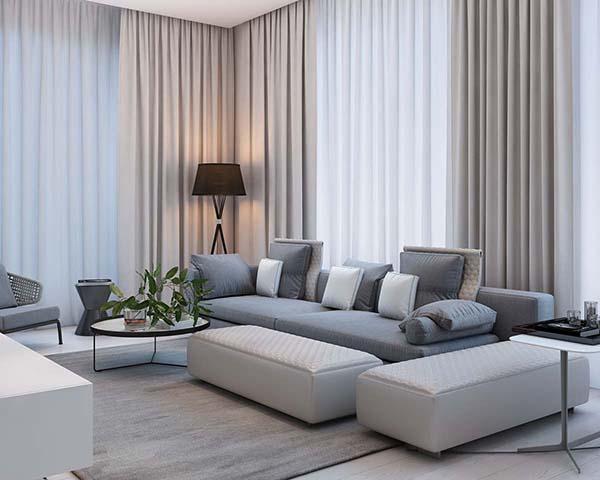 Thiết kế nội thất căn hộ chung cư 100m2 phong cách hiện đại- 2