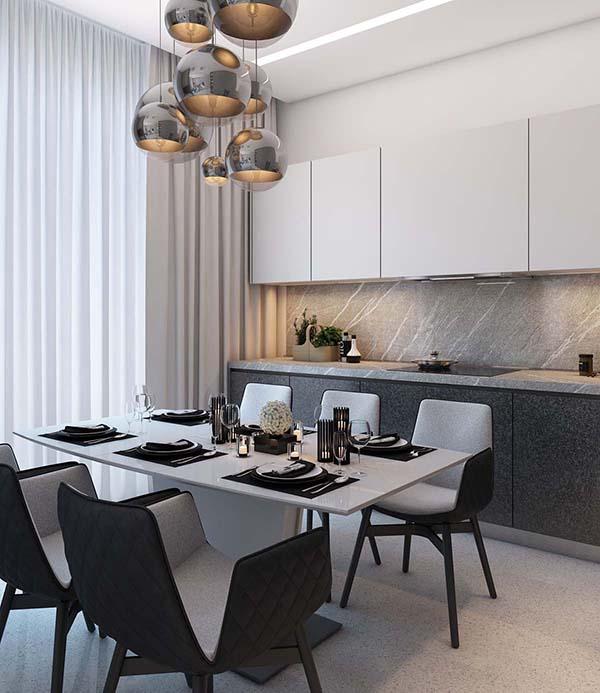 Thiết kế nội thất căn hộ chung cư 100m2 phong cách hiện đại- 4