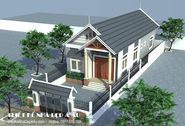 Chi phí xây nhà cấp 4 mái thái 100m2.