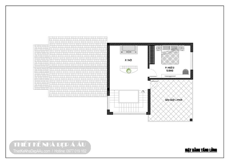 bản vẽ chi tiết bố trí nội thất tầng lửng
