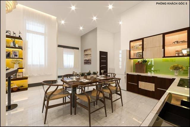 trang trí nội thất phòng bếp nhà cấp 4 hiện đại