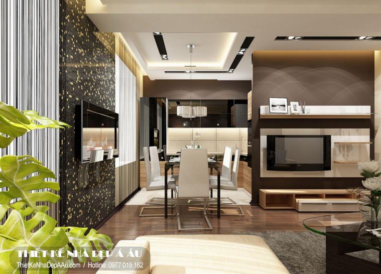 Thiết kế phòng khách thông với phòng ăn để tọa thêm nhiều không gian cho ngôi nhà.