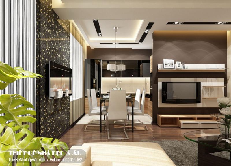 Thiết kế nội thất phòng khách cho căn biệt thự 100m2