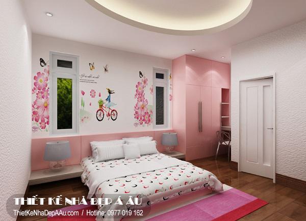 Tư vấn cách trang trí nội thất phòng bé gái.