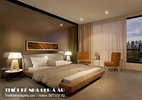 Khi kéo rèm sẽ tạo nên không gian phòng ngủ vô cùng yên tĩnh