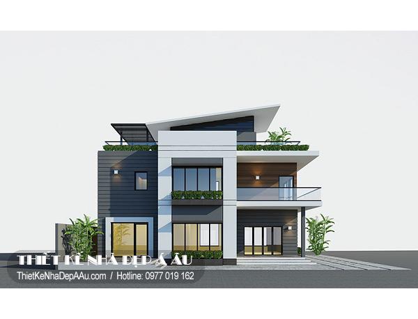 Xu hướng thiết kế biệt thự hiện đại 2 tầng 2018