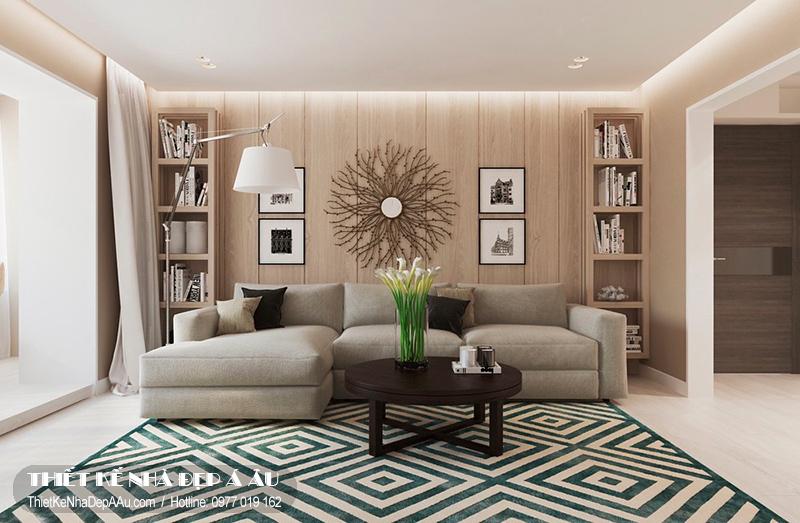 phương án thiết kế nội thất phòng khách tiện nghi