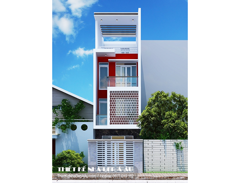 Nhà phố 4 tầng 4x20m