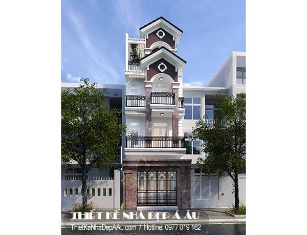 Thiết kế nhà phố 4 tầng 5x13m đẹp
