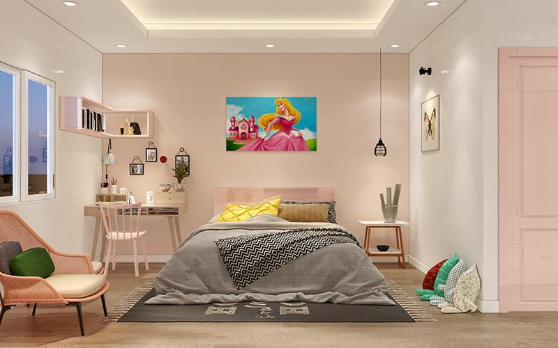 Trang trí phòng ngủ bé gái dễ thương