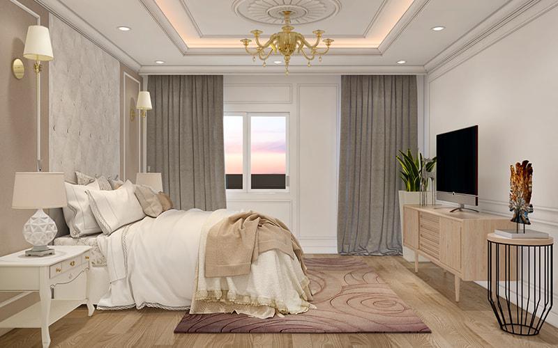 trang trí nội thất phòng ngủ sang trọng