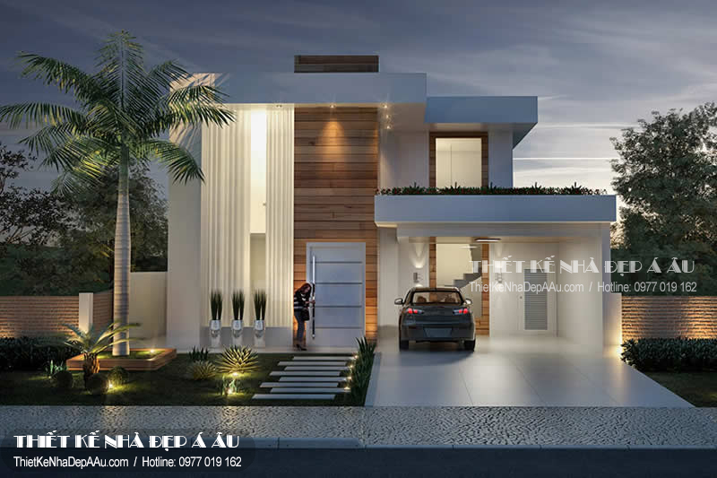 Phương án thiết kế biệt thự 2 tầng đẹp