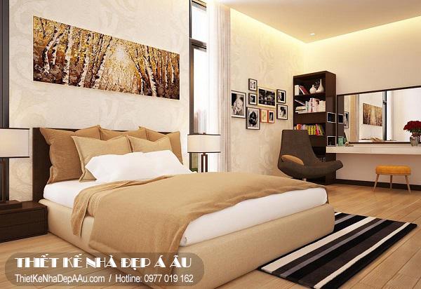 Trang trí nội thất phòng ngủ theo phương án 1