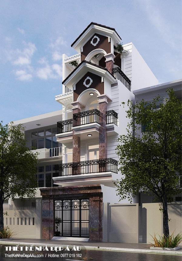 Thiết kế nhà phố 4 tầng 65m2