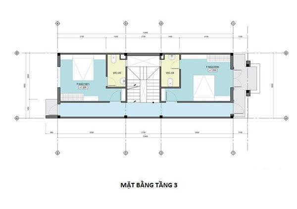 Cách bố trí công năng tầng 3 của ngôi nhà
